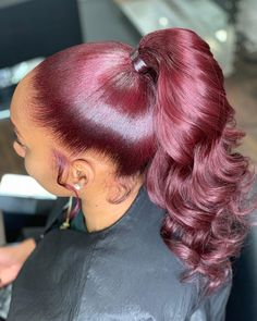 Hairstyles That'll Get You in the Holiday Spirit ASAP african american,black girl swag,black girl makeup eyeshadows,black art african american,black tumb Hair Ponytail Styles, Curled Ponytail, Slick Ponytail, Weave Ponytail Hairstyles, Dope Hairstyles, Curly Hair Styles, Natural Hair Styles, Perfect Ponytail, Woman Hairstyles