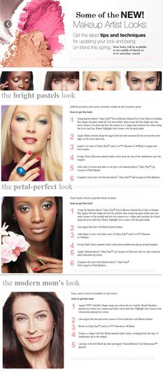 New Spring Mary Kay  makeup artist looks! Book your makeover with me today to try them!