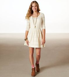 AE Fit & Flare Sweater Dress - must get!