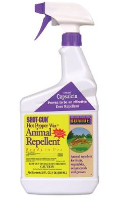 Bonide 127 ReadytoUse Hot Pepper Wax Animal Repellent 32 OZ -- More info could be found at the image url. Deer Repellant, Insect Repellent, Leafhopper, Natural Insecticide, Spider Mites, Garden Pests, Stuffed Hot Peppers, Pest Control, Lawn And Garden