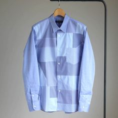 P/W Long Sleeve Check Shirt #blue mix