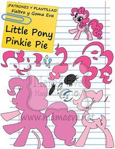 Descarga gratis nuestras plantillas para goma eva y fieltro de tus personajes de dibujos animados actuales favoritos: Pinkie Pie y sus amigos.