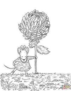 Chrysanthemum Coloring Pages Kevin Henkes to Print - Coloring For Kids 2019 Puppy Coloring Pages, Coloring For Kids, Adult Coloring, Coloring Books, Free Printable Coloring Pages, Free Coloring Pages, Printable Crafts, Printables, Printable Worksheets