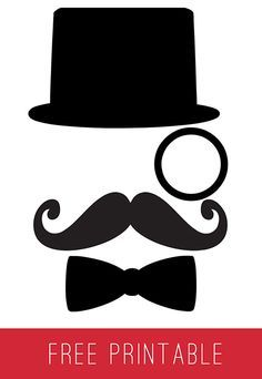 Father's Day Gift Bag (Free Printable) + GC Giveaway #mustache #hat #bowtie