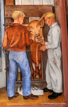 The California Agriculture Industry by Gordon Langdon a WPA Frescoe at Coit Tower on Telegraph Hill in San Francisco Coit Tower San Francisco, California Agriculture, Agriculture Industry, Murals, Photo And Video, Painting, Wall Paintings, Painting Art, Mural Painting