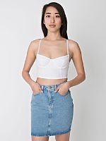 High-Waist Denim Mini Skirt