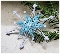 Schneeflocke Weihnachtsstern für Weihnachten Deko von Liebeabies auf DaWanda.com