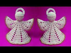 How To Crochet Christmas Angel - Crochet Ideas Lace Christmas Tree, Christmas Angel Ornaments, Crochet Christmas Decorations, Christmas Crochet Patterns, Crochet Snowflakes, Christmas Poinsettia, Crochet Ornaments, Crochet Angel Pattern, Crochet Angels