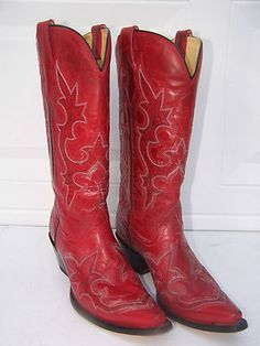I need red cowboy boots