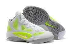 Nike Zoom Hyperfuse 2011 White Green#Basketball shoes#sale on http://www.shopforsneaker.com online store,worldwide shipping!