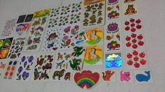 Huge Lot of 275 Vintage Stickers BJ AGC Fuzzy by thegrantgirl