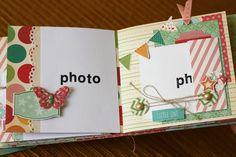scrap & co: MIni album per Victoria page 13 & 14 Mini Scrapbook Albums, Baby Scrapbook, Scrapbook Cards, Scrapbooking Ideas, Scrapbook Layouts, Diy And Crafts, Paper Crafts, Mini Albums Scrap, Mini Album Tutorial