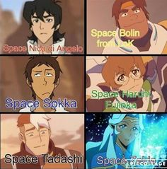 Yup. Shiro also kinda reminds me of Mako.<<<omg it all fits... Space nico lol<<<<<< I see Keith more as Space Zuko