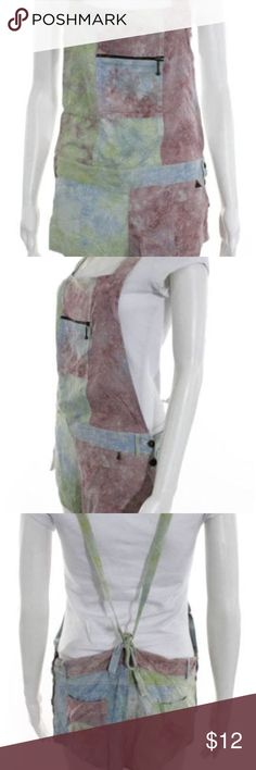 Tallow artisan romper wearable art Interesting romper that just doesn't suit my body. Beautiful otherwise, great for art students or art lovers (or just lounging around!). Has a zippered pocket in the chest area and pockets on the sides too! tallow Pants Jumpsuits & Rompers
