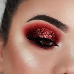 """Melt Cosmetics - - History of eye makeup """"Eye care"""", Red Makeup Looks, Red Eye Makeup, Bright Eye Makeup, Dramatic Eye Makeup, Colorful Eye Makeup, Natural Eye Makeup, Eye Makeup Tips, Makeup For Brown Eyes, Makeup Eyeshadow"""