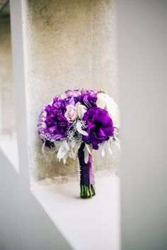 Enchanting Purple California Wedding - MODwedding