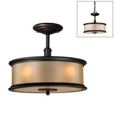 Shop Cascadia Lighting  3 Light Carlisle Semi Flush Ceiling Light at Lowe's Canada. Find our selection of pendant lights at the lowest price guaranteed with price match + 10% off.