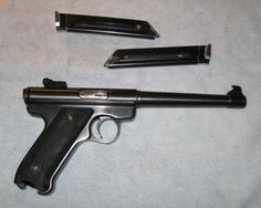 Ruger Mark 1, .22 long rifle, semi-automatic pistol, blued finish  A classic!