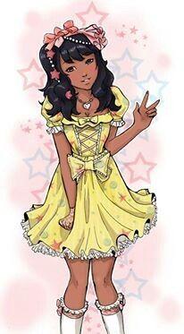 #team #dark #skin #black #beautiful #kawaii #cute #sweet #lolita #African #American #princess #ulzzang #art