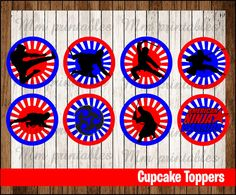 80% OFF SALE American Ninja Warrior Cupcakes by mrkitspartyshop
