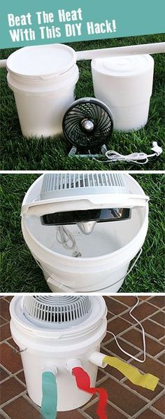 No Air Conditioner? You Can Still Escape the Inferno Great Idea if you dont have central air con be cool this way!!!!