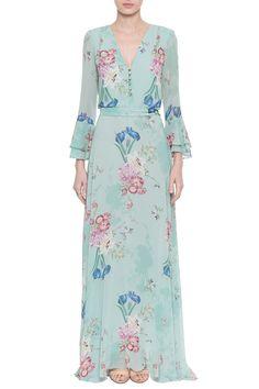 Vestido Crepe Floral Psicodelic Muslim Fashion, Modest Fashion, Hijab Fashion, Fashion Dresses, Cute Dresses, Casual Dresses, Summer Dresses, Indian Designer Outfits, Designer Dresses