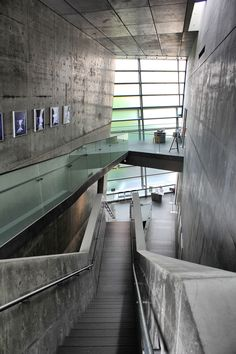 Inside the Saka no Ue no Kumo Museum in Matsuyama, designed by world renowned architect Ando Tadao. We visit it as part of the All Shikoku Tour. http://www.shikokutours.com/sightseeing/550.html