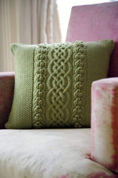 more cabled pillow patterns