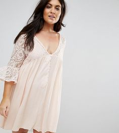 Get this Club L's cotton dress now! Click for more details. Worldwide shipping. Club L Plus Lace Detail Flute Sleeve Dress - Pink: Casual dress by Club L Plus, Lightweight semi-sheer fabric, Lace insert, V-neck, Button placket, Ruffle sleeves, Smock style, Regular fit - true to size, Machine wash, 100% Polyester, Our model wears a UK 18/EU 46/US 14 and is 175cm/5'9 tall. Whether you're staying in or heading out, Club L is your go-to label for that sleep-to-street style. Prep for the party…