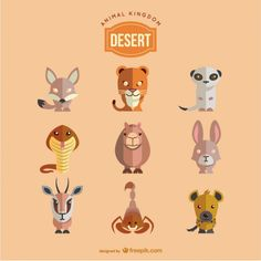 Desert animals set