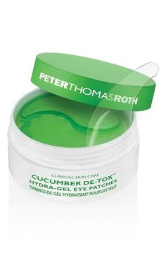 Free shipping and returns on Peter Thomas Roth 'Cucumber De-Tox™' Hydra-Gel Eye Patches at Nordstrom.com. Peter Thomas Roth Cucumber D-Tox Hydra-Gel Eye Patches soothe, cool and detox your delicate eye area.How to use: Use the enclosed spatula to gently lift and separate a delicate gel patch. Apply onto clean, dry skin underneath your eyes. Relax and and enjoy for 10-15 minutes. Discard after use and gently pat the remaining serum into skin. Use 1-3 times per week.