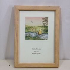 Classic-Pooh-Framed-Print-Little-Friends-are-Very-Grand-Things-Winnie-Disney