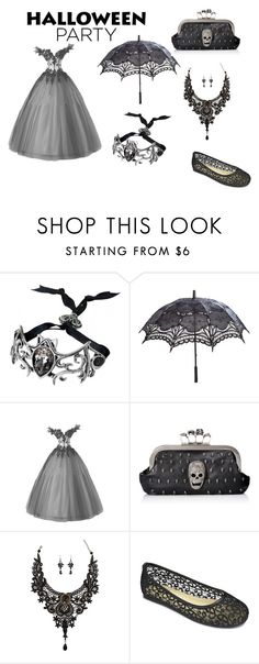 """""""gothic"""" by polyvore966 ❤ liked on Polyvore featuring moda e Halloweenparty"""