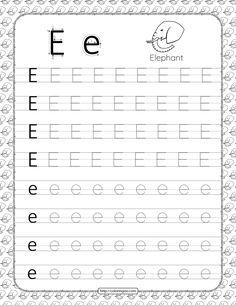 Free Printable Alphabet Worksheets, Alphabet Writing Worksheets, Letter Worksheets For Preschool, Printable Letters, Teaching Letters, Lettering, Books, Kids Learning Activities, Apps