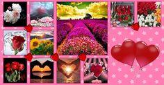 Mosaico de Fotos do Facebook, com corações