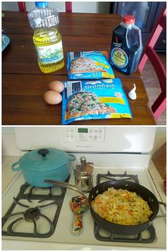 Easiest fried rice you will ever make. . and delicious!
