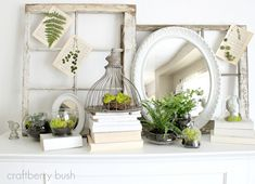 Spring Mantle Decorating