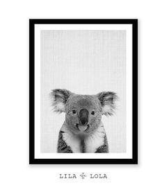 Baby Dusche Geschenk Koala Bär Print Tier druckbare von LILAxLOLA