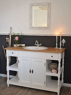 lillesand retro waschtisch von badm bel landhaus land und liebe badezimmer pinterest. Black Bedroom Furniture Sets. Home Design Ideas