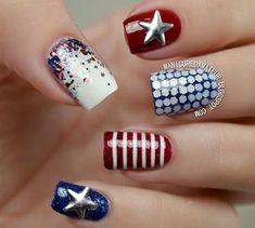 Nails Opi, Patriotic Nails, 4th Of July Nails, July 4th, Light Nails, Accent Nails, Creative Nails, Holiday Nails, Spring Nails