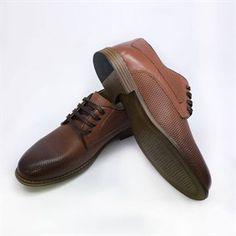 0d088654f0964 Erkek Bağcıklı Taba Hakiki Deri Yazlık Ayakkabı Dft-885-Taba