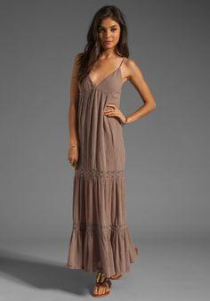 Bobi Gauze Tiered Maxi Dress in Java For Women