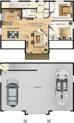 Garage with upstairs apartment maybe sauna in back of for Modular garage apartment floor plans