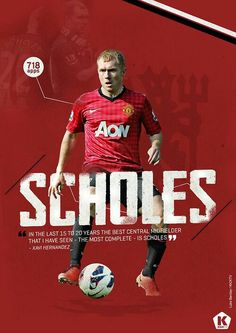 Paul Scholes of Man Utd wallpaper.