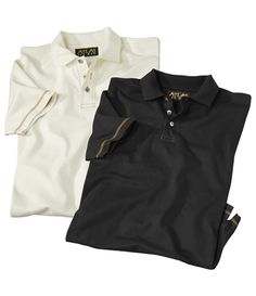 Lot De 2 Polos White Ranch : http://www.atlasformen.fr/products/les-collections/collection-destination-western/lot-de-2-polos-white-ranch/16890.aspx #atlasformen