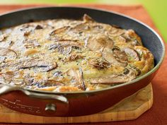 Mushroom Frittata | Frittatas are delicious hot or cold; make for breakfast, and enjoy leftovers later.