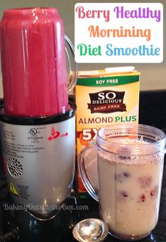 Baking Outside the Box | Fast, tasty and wholesome morning smoothie. Tastes more like dessert than a diet!