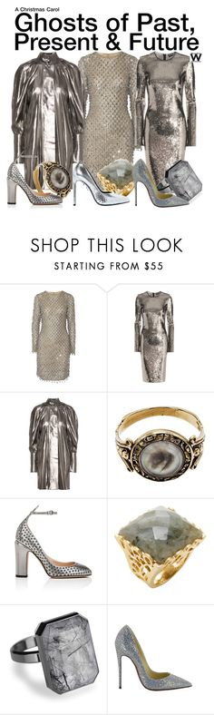 """A Christmas Carol"" by wearwhatyouwatch ❤ liked on Polyvore featuring Michael Kors, Tom Ford, E L L E R Y, Valentino, Rivka Friedman, Ringly, Christian Louboutin, Yves Saint Laurent, wearwhatyouwatch and film"
