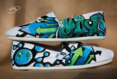 Grafitti Style Custom Toms Shoes by BPillustration on Etsy, $148.00