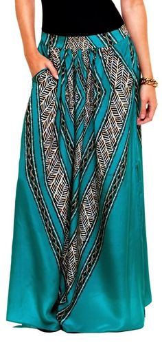 Stylish Ashley: Cute Tribal Print Maxi Skirt
